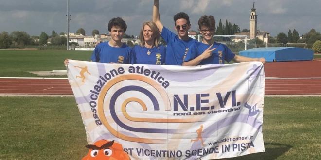 Cadetti campioni regionali di prove multiple: strepitosi Andrea Polo, Francesco Marcon e Luca Mardegan