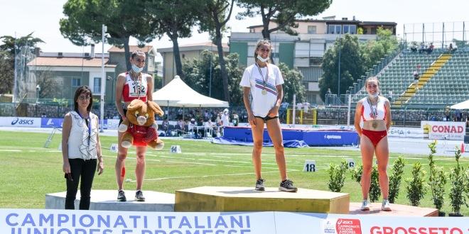 Campionati italiani juniores e promesse. Grande bronzo per Arianna Siviero nei 400hs, Davide Scanferla da top 10 nel lungo